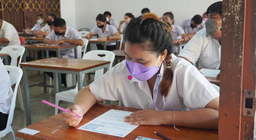 นักศึกษา กศน.จังหวัดกำแพงเพชร  เข้าร่วมทดสอบวัดความรู้ระดับชาติ (N-NET)